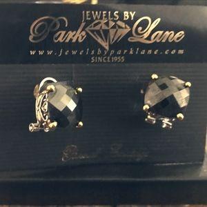Park Lane Black Signature Stud Pierced Earrings